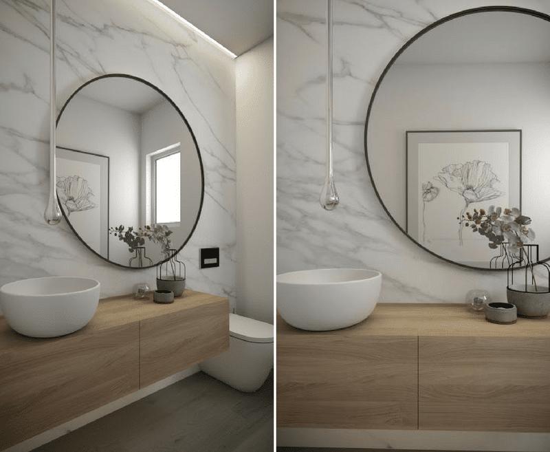 des idees de miroirs ronds design