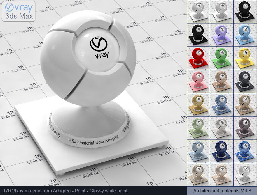 vray material glossy white