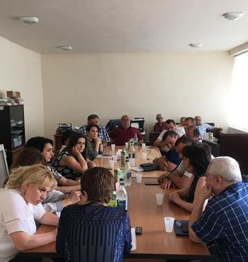 Նոյեմբերյանի տարածքային արհմիության ժողովին