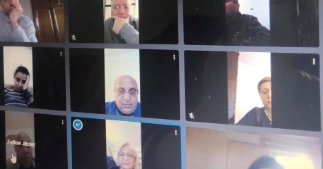 Online meeting with some Council members
