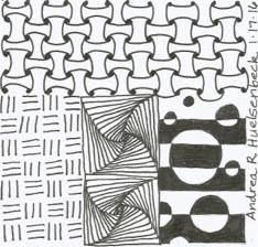 """This is my favorite. I like the mix of patterns. The center one is called """"paradox."""""""