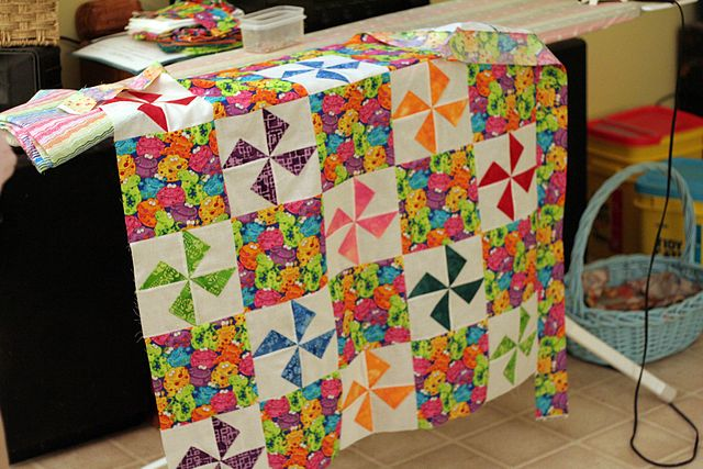 Photo by Jim Baby_quilt_in_pinwheel_pattern