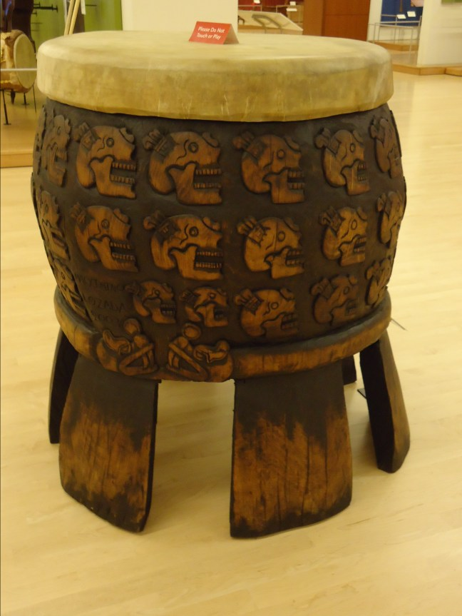Tlalpanhuehuetl, Aztec drum (this one made in the 20th century)