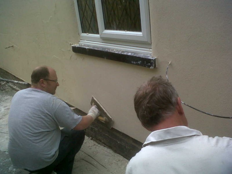 Replacement of external render to a 19th century cottage  ARH Tucker  Sons Limited