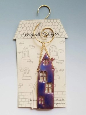 Enameled House Ornament