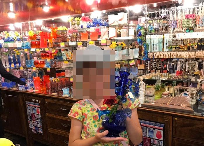 お土産店琉球ガラス