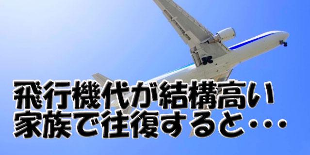 沖縄までの飛行機代が結構高い