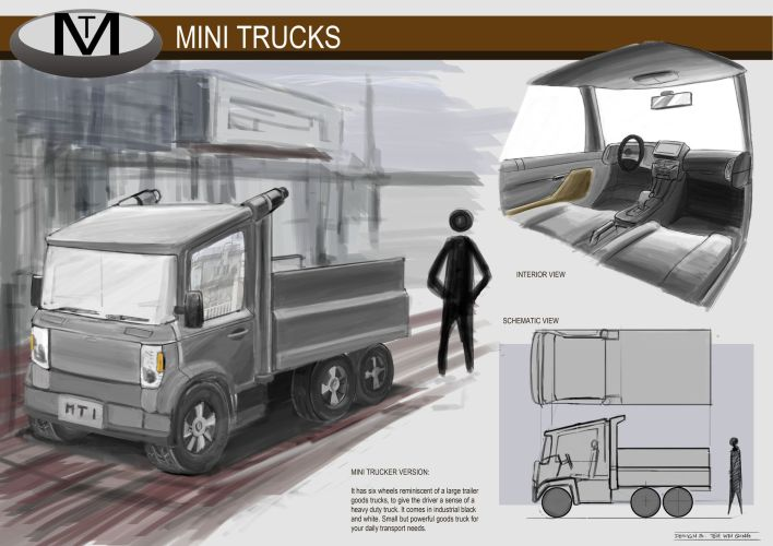 Concept Vehicle Mini Trucks 01