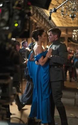 Wonder Woman blue gala gown
