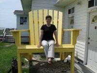 A Teenager and a Really Big Chair
