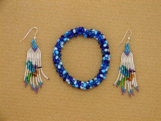 Hummingbird Earrings and Hula Bracelet