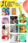 20 Sensory Play Activities and Ideas for babies and Toddlers to Encourage Hands on Learning, Stimulate Senses and Calm Little Minds