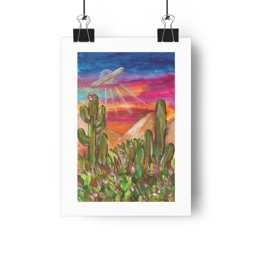 """Area 51″ Painting Giclée Art Print – 8″x11"""