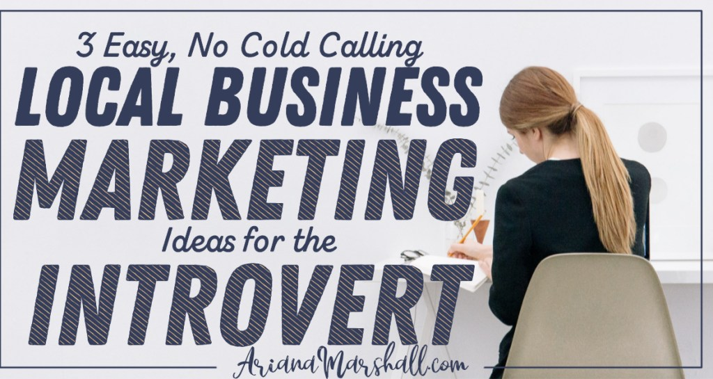 Woman in chair with title Local Business Marketing Ideas for Small Business