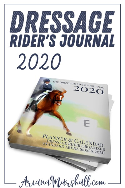Dressage Rider's Journal 2020 Image of book