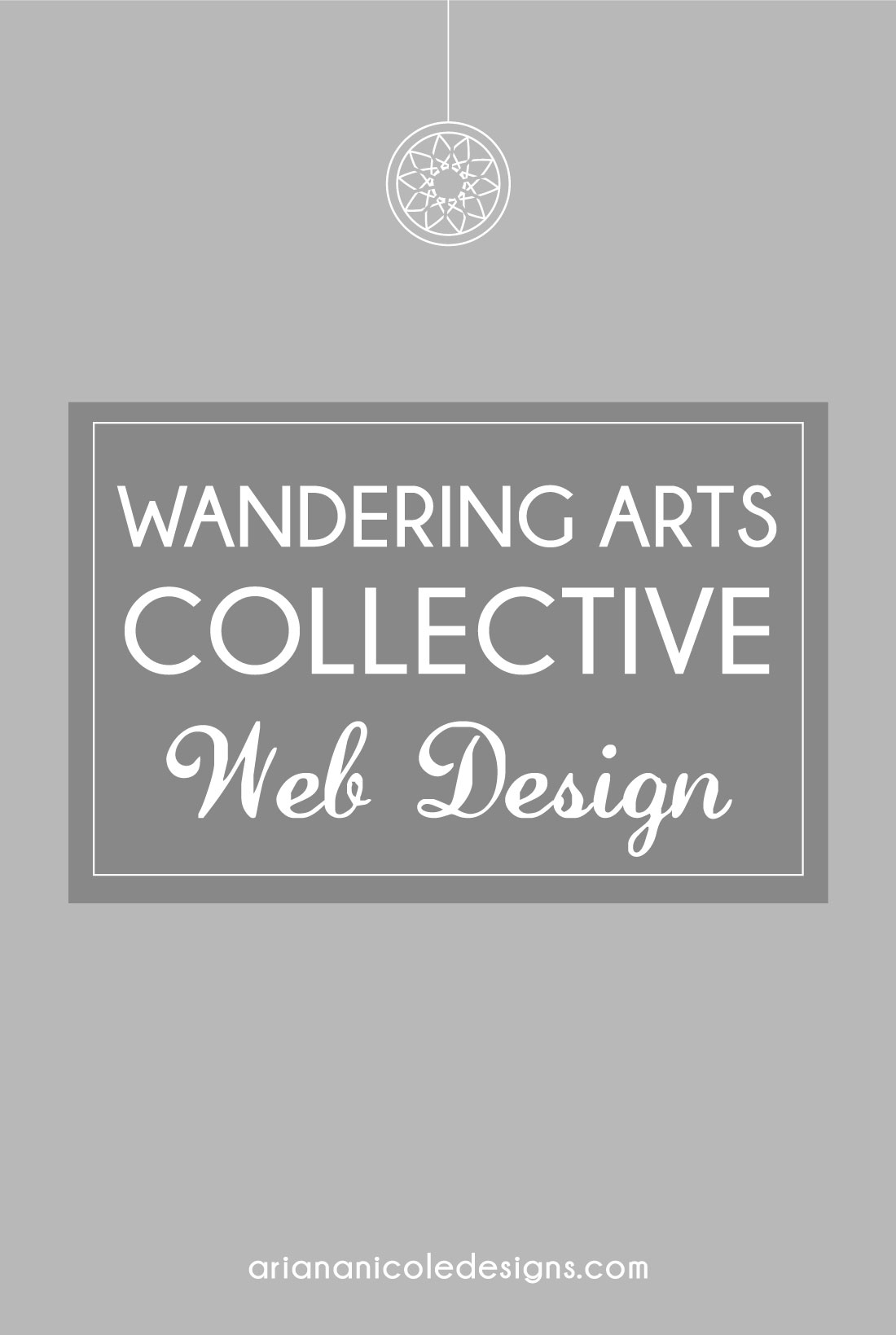 Wandering Arts Collective Web Design by Ariana Nicole