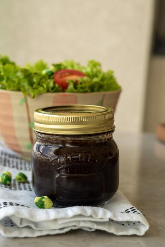 molho para saladas de aceto balsâmico