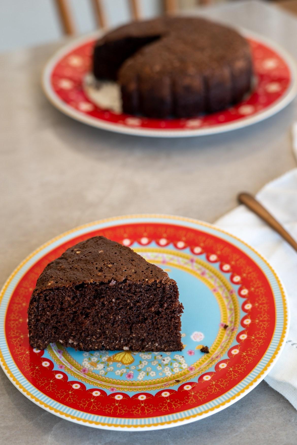 bolo sem farinha de chocolate e coco ralado ( receita de liquidificador)