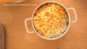 arroz colorido para a marmita da semana