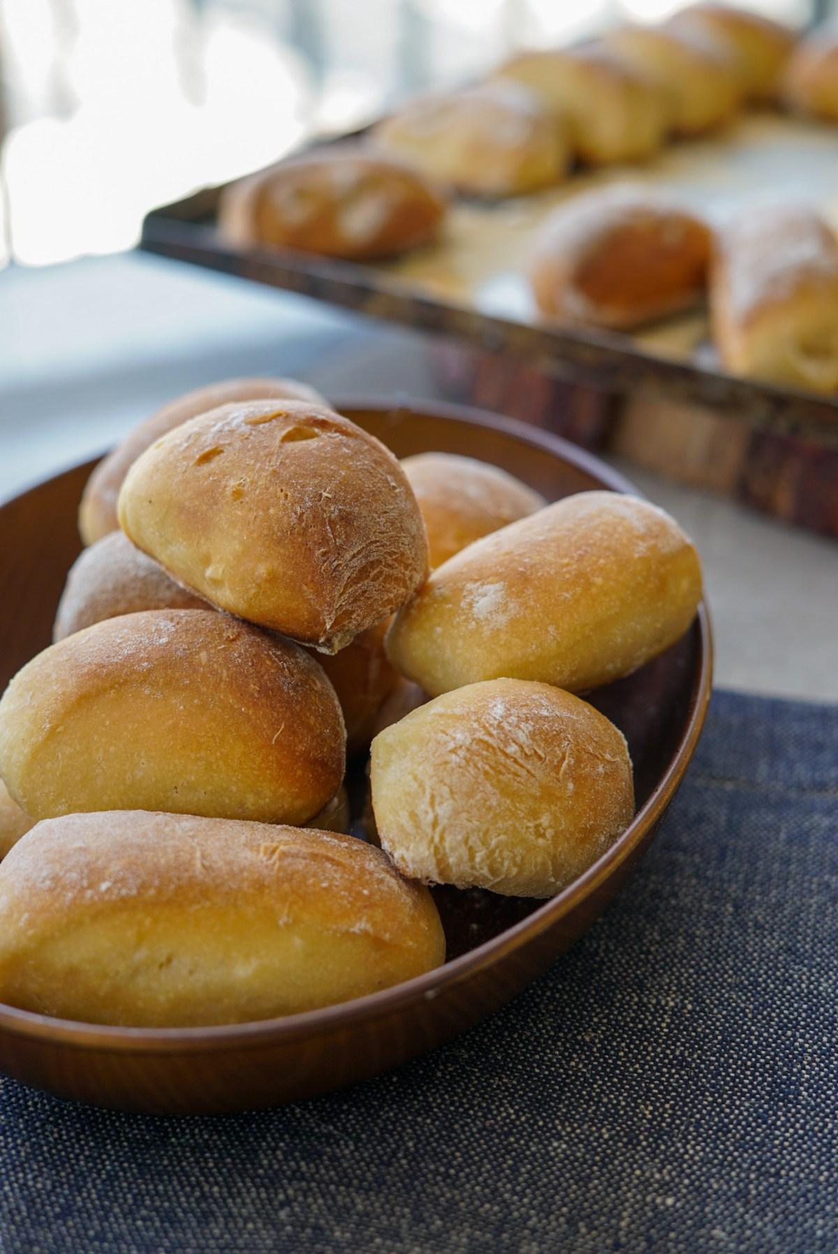 pãezinhos de batata doce com farinha integral, receita boa para congelar