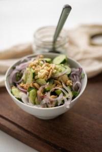 salada de pepino agridoce thai
