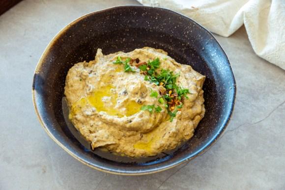 como fazer pasta de berinjela arabe - baba ganoush