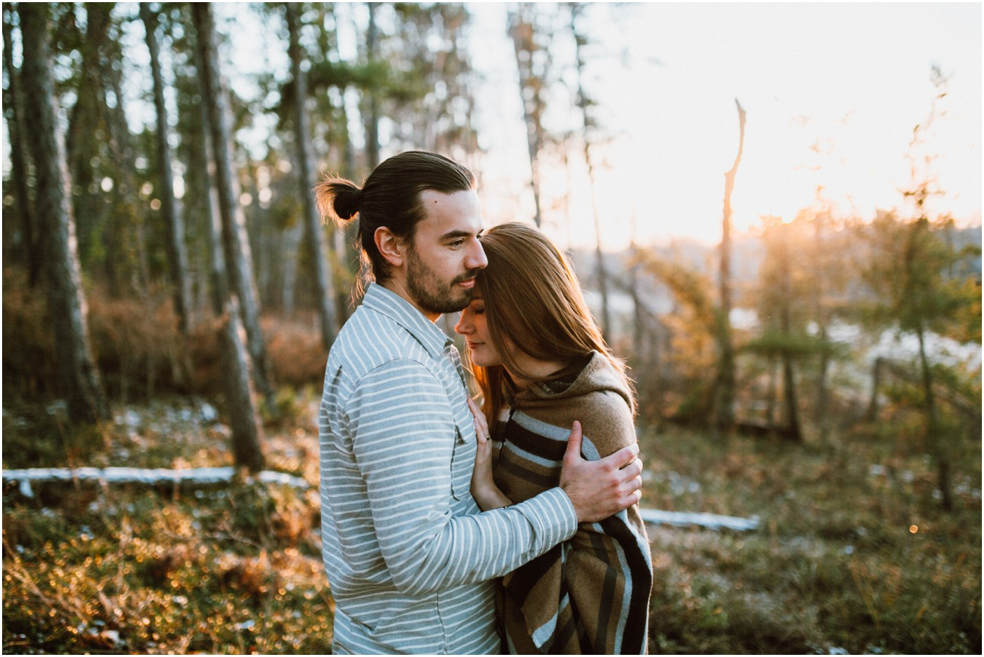 Couple Photo Shoot in the Forest by Ariana Tennyson