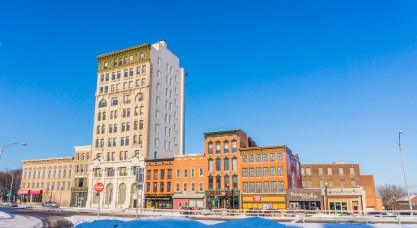 Utica's Bagg's Square, a long dormant urban canvas that is about to explode with sustainable local development. Less than a half mile away, massive proposals for a downtown hospital and and an entertainment district featuring a casino are in the works.