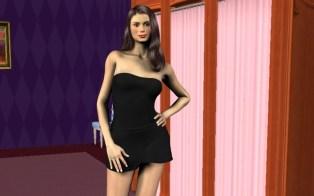 Original view inside lingerie store