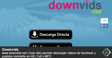 Descargar videos de facebook y youtube