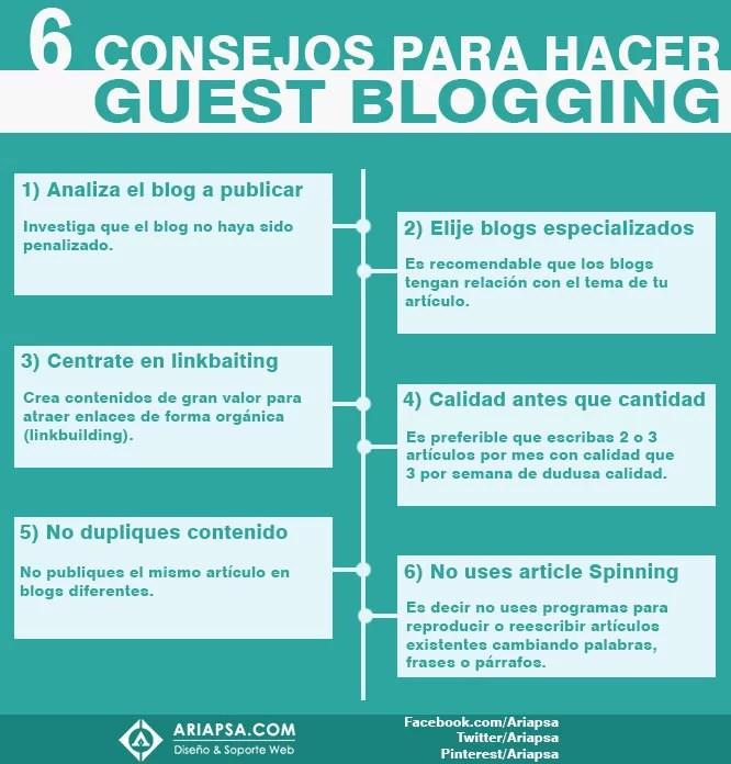 6 Consejos para hacer guest blogging