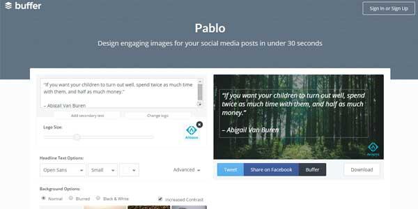 pablo by buffer crear imagenes para redes sociales