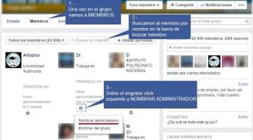 ¿Cómo agregar mas administradores a mi grupo de facebook?