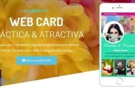 Tener un micro sitio en Internet ahora al alcance de todos con WEB CARD