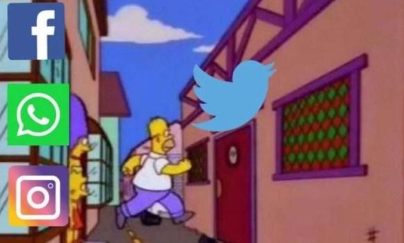Meme via Twitter: Carlos Mateo Monroy Martínez? @SoyMateoMonroy · 51min #instagramdown #facebookdown  | Con Facebook, Instagram y WhatsApp con problemas, ahora todos vienen a Twitter y este es el meme que se impone ?