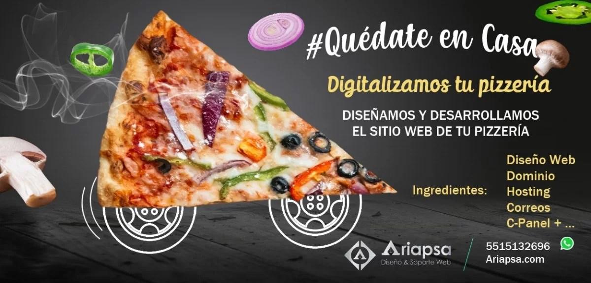 diseño web pizzas slider Ariapsa México web