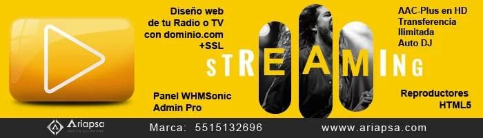 Streaming radio renta en mexico