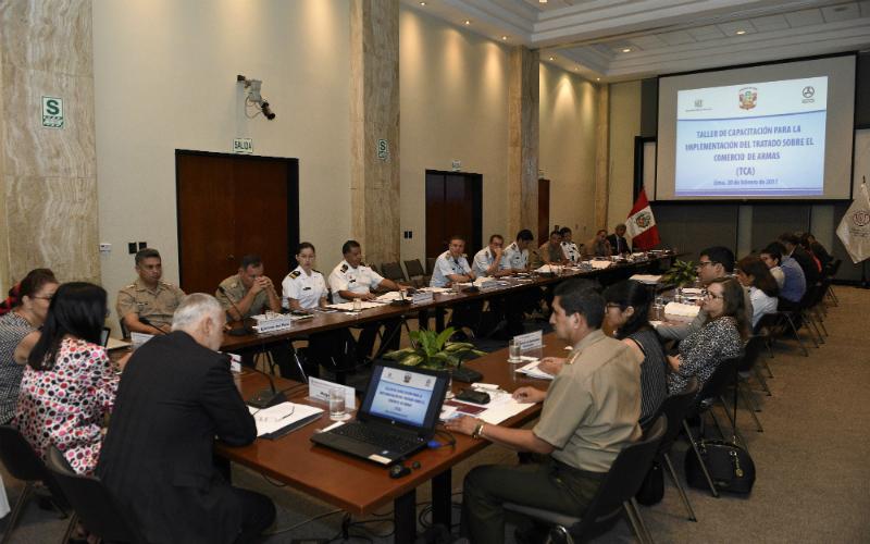Capacitación con la cancillería peruana sobre el Tratado de Comercio de Armas (TCA)