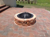 brick paver fire pit  Design and Ideas