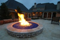 Fire Pit Glass Rocks Dallas  Design and Ideas