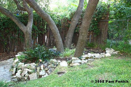 landscaping with rocks trees