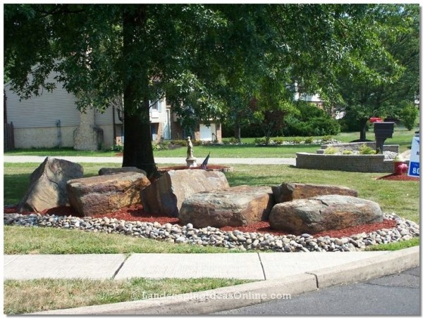 landscaping with rocks drainage