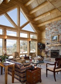 Log Cabin Interior Photo Gallery Pictures to Pin on ...
