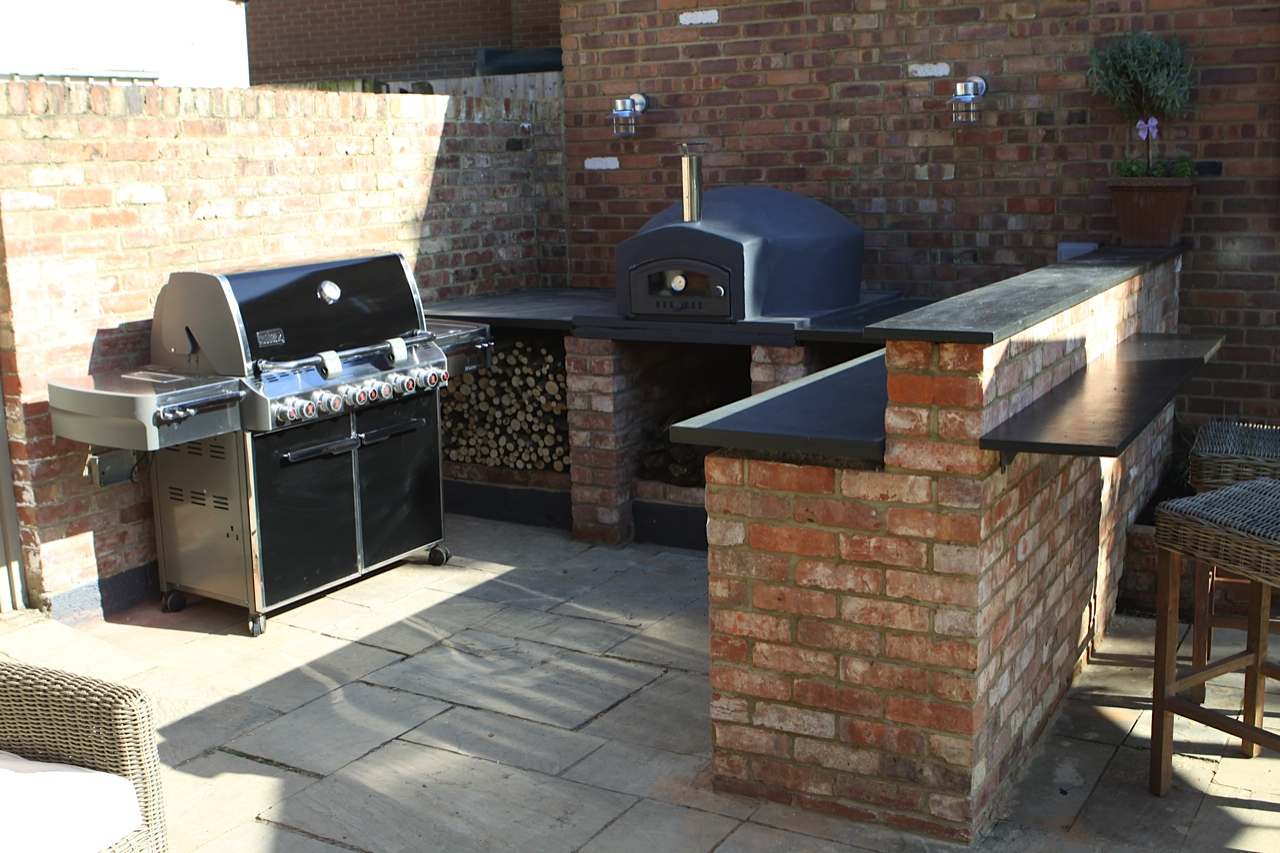 outdoor kitchen pizza oven design moen faucet and bbq  ideas