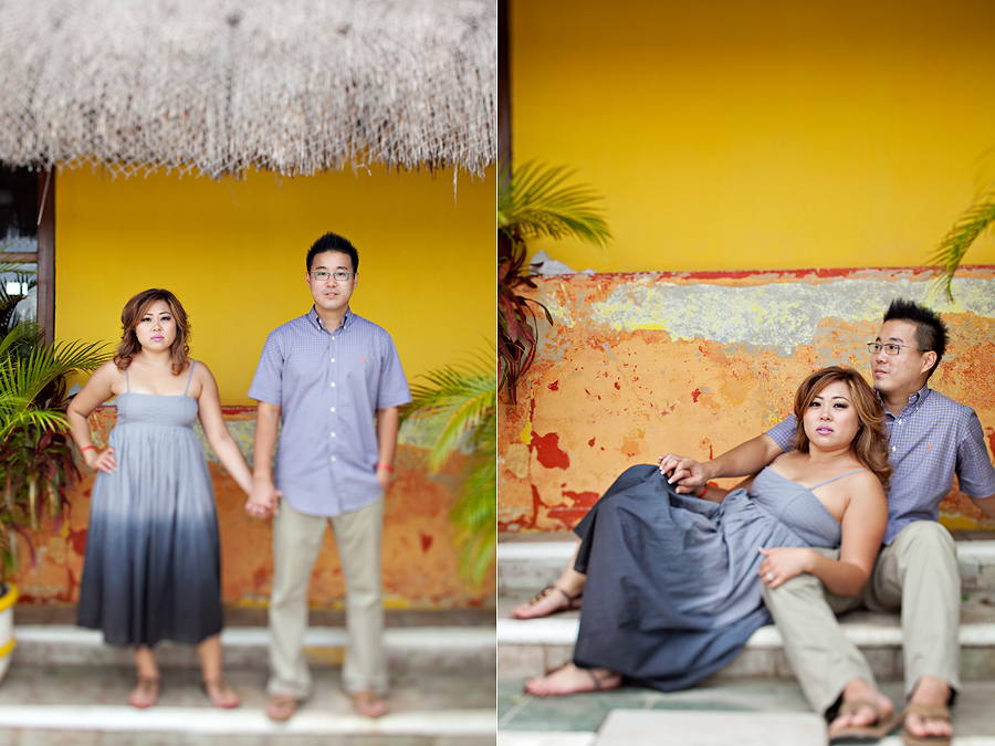 Authentic, Fun, Modern, Romantic, Lifestyle, Engagement pictures of Liz Suh and Tom Maeng at Riu Carribe in Cancun Mexico at their destination wedding photographed by Texas and Destination Photographers Aric + Casey Photography