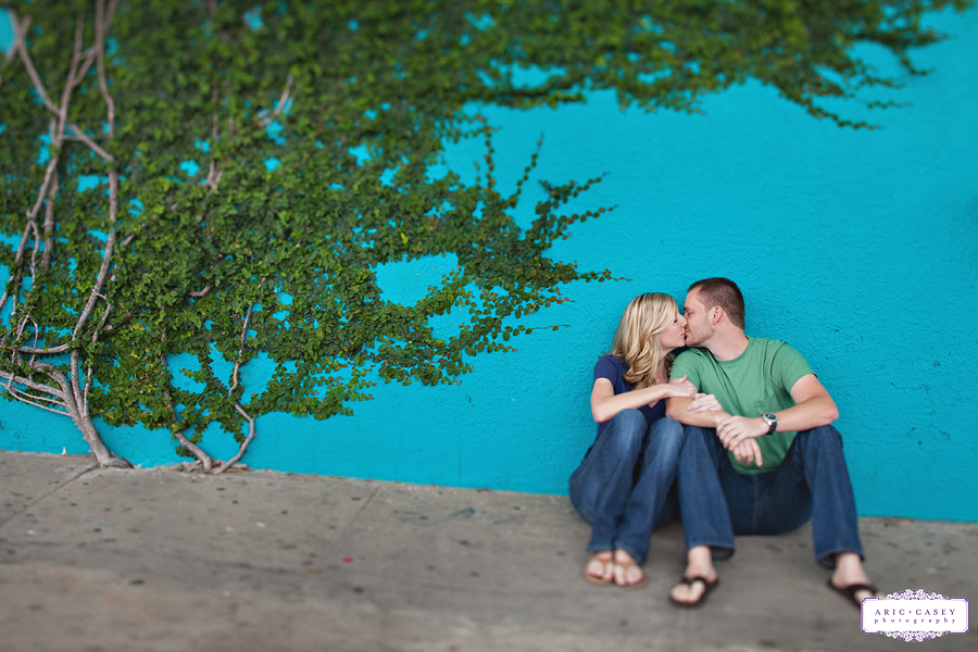Engagement Photos on The Strand in Galveston Texas by Aric + Casey Photography