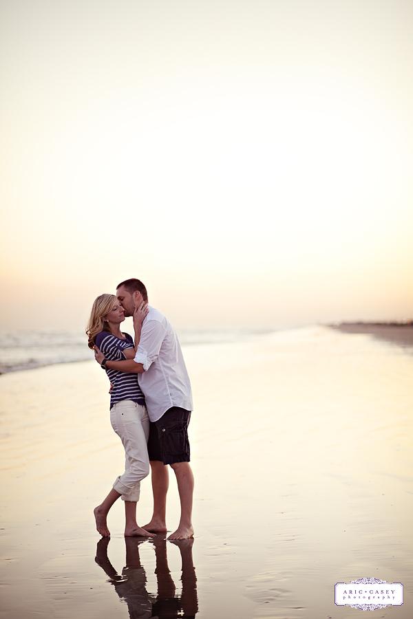 Galveston beach engagement and wedding photography