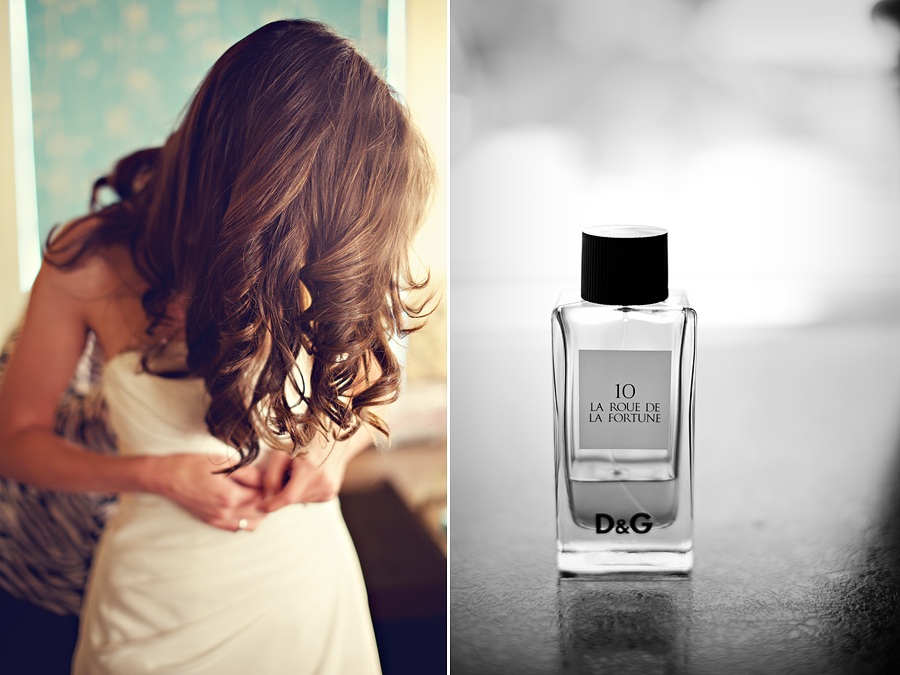 Dolce and Gabanna perfume, bride getting ready mcpherson wine cellars lubbock texas by aric and casey photography