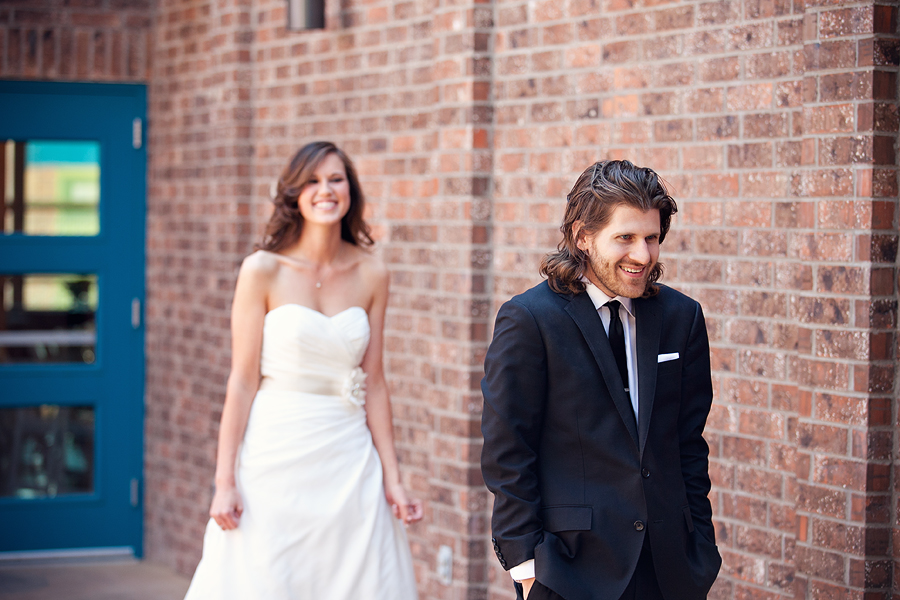 First Look Excitement by Aric and Casey Photography