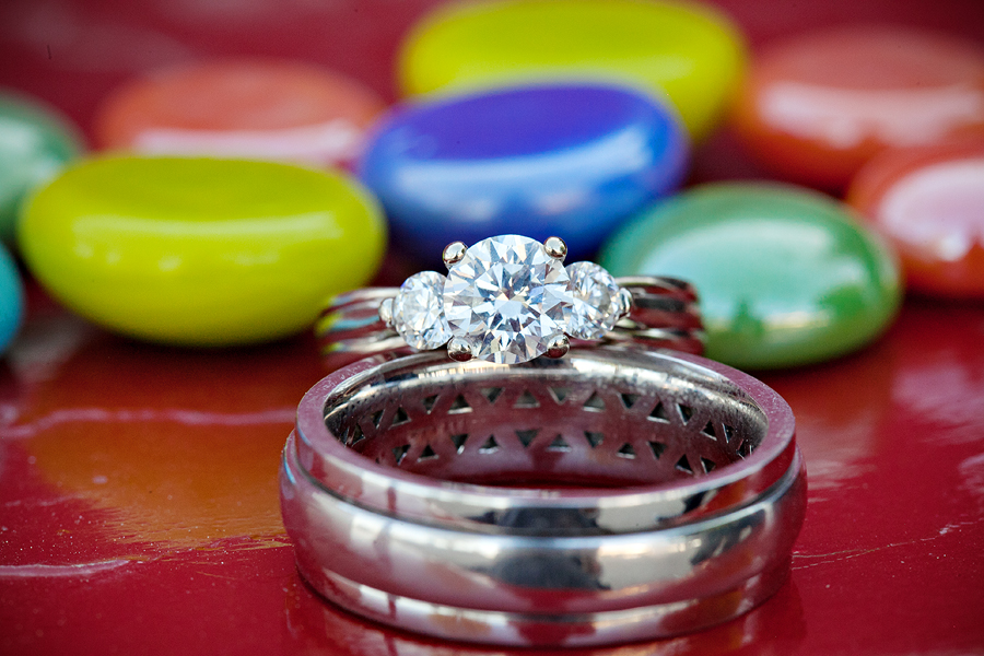 Ring Shot, Colorful Background, White Gold Wedding Rings, Primary Colors Wedding, Gorgeous Wedding Rings, Detail Shot
